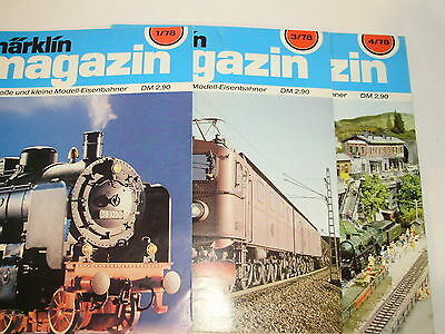 Marklin Magazine for 1978. 3 issues incl. German Text. Exc Cond.