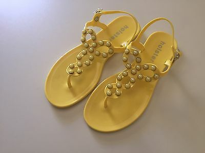 Ladies Holster Masquerade Jelly Sandals Yellow Shoes Size 41 Or 10