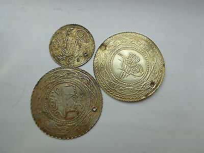 3pcs. OTTOMAN TURKISH COINS. GOLD AND SILVER