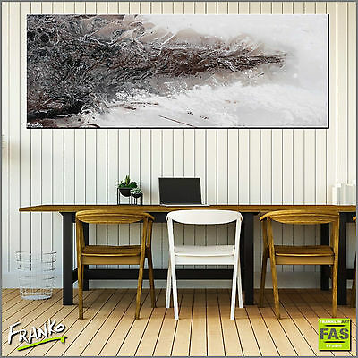 Brown Original Textured Abstract Painting Art 160cm x 60cm Franko Australia