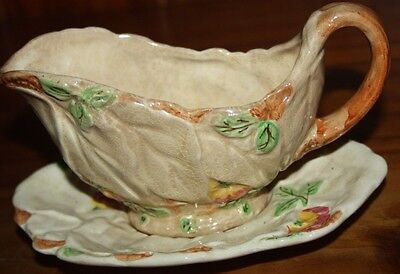 Staffordshire Brentleigh Ware Beech Sauce Boat And Dish