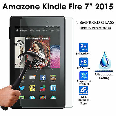 "Tablet Tempered Glass Guard Screen Protector For Amazon Kindle Fire 7"" (2015)"