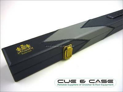 Luxury BCE HERITAGE Leather Patch Effect 2 Piece Snooker Pool Cue Case