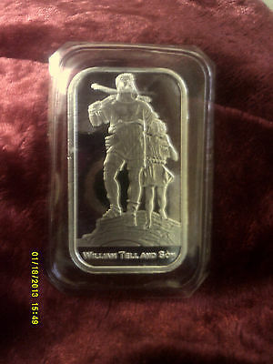 William Tell And Son Silver Bar. Sealed In Mint Condition