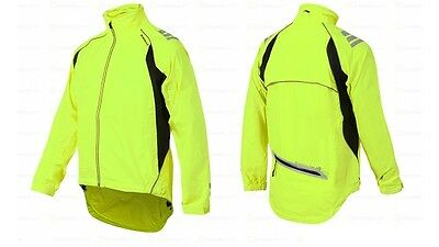 Ladies Endura riding bike Waterproof Jacket yellow high visibility vest RP$105