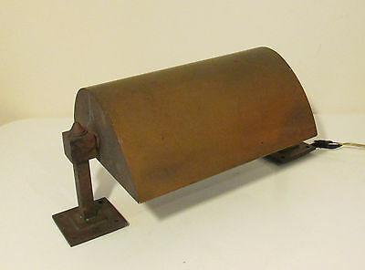 1920's Reclaimed Brass Art Deco Adjustable Shade Wall Light - Great Character