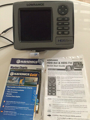 LOWRANCE BOAT CHARTPLOTTER GPS HDS5m TOP QUALITY VERY GOOD CONDITION