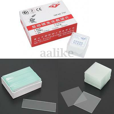 50PCS Blank Biology Histology Lab Microscope Slides +100pcs Square Cover Glass