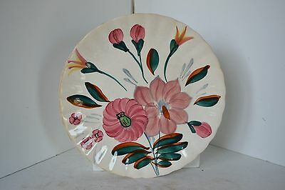 VINTAGE BLUE RIDGE SOUTHERN POTTERIES HAND PAINTED Flower PLATE