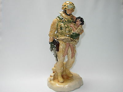 Kevin Francis Peggy Davies FigurIne In The Arms of a Hero Ltd Ed Made in England