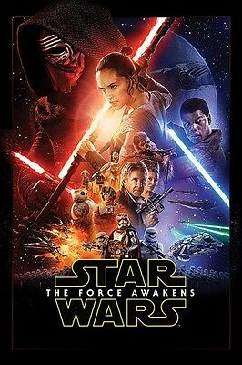 """Star Wars Episode Vii Poster """"the Force Awakens""""  Cover """"licensed"""" Brand New"""