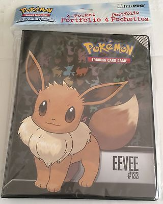 Ultra Pro Pokemon Eevee 4 Pocket Portfolio - Trading Card Folder - A5 Size NEW