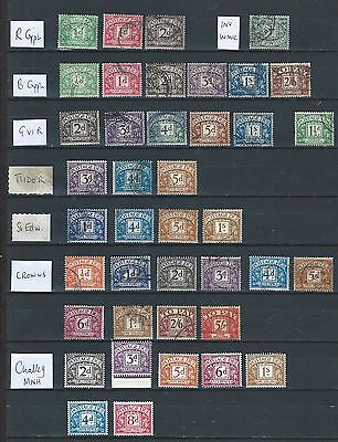 1912/60 Gb Postage Dues Excellent Selection Of 44 Different  Vfu (12)
