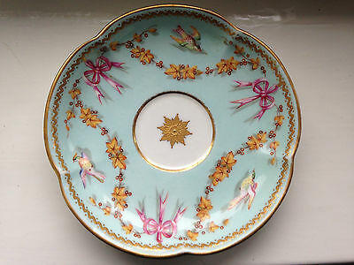 Sevres?/Minton? Hand Painted Teacup and Saucer