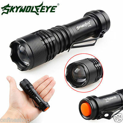 Super Bright 2000LM CREE Q5 3 Modes Tactical LED Zoomable Flashlight Torch 14500