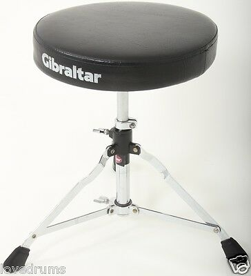 Gibraltar Throne / Seat / Stool For Drum Kit Adjustable Height, Memory Lock
