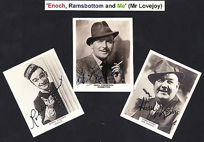 Enoch, Ramsey and Me [ Mr Lovejoy ] 3 hand signed vintage photos fixed to board