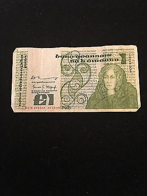 Central Bank of Ireland Banknote 31-10-1980 $1