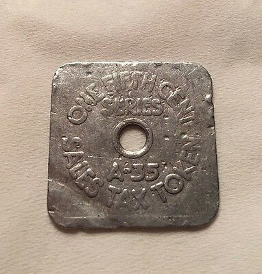 Colorado Sales Tax Token one fifth cent tax State Treasurer