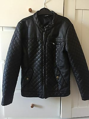 Girls Faux Leather Jacket 7/8 Yrs