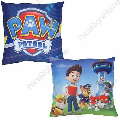Paw Patrol Rescue Reversible Cushion 2 Designs In 1 100% Official Kids