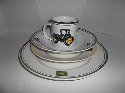 John Deere Licensed Product Four Piece Place Setting of Dinnerware By Gibson
