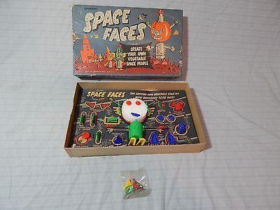 1950s Pressman Space Faces Vegetable People Monster Robot Toy