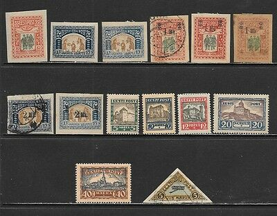 ESTONIA Early Interesting Semi Postal & Airpost Issues  Mint and Used (Nov 0221)