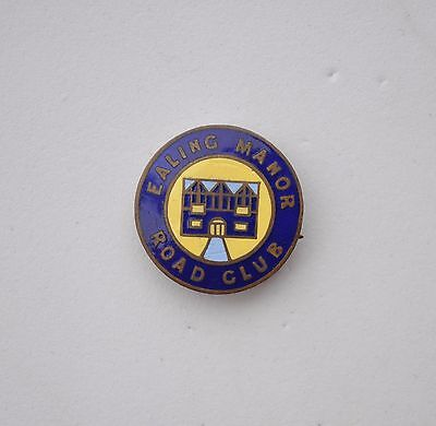 Vintage Ealing Manor Road Club pin badge Cycling cyclists club By Simpson