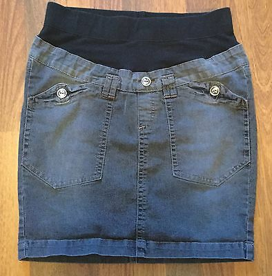 Oh Baby By Motherhood Denim Jean Above Knee Maternity Skirt, Size Small