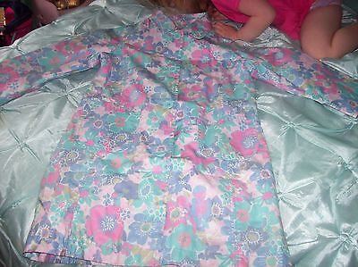 Monsoon Girls Coat Turquoise With A Floral Pattern