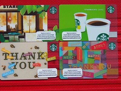 4 mexico starbucks mint gift cards