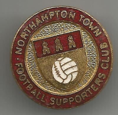Rare Old Northampton Town Fc Supporters Club Badge (Backstamped Firmin)