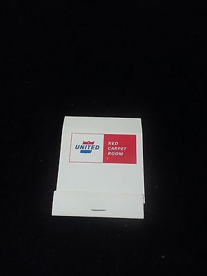 1961-1974 United Airlines Red Carpet Room Tobacciana Matchbook ULTRA RARE!