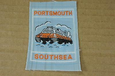 Silk badge / patch / ribbon featuring a Hovercraft - Portsmouth Southsea
