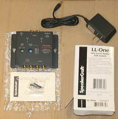 Speakercraft LL-One line level audio A/B switch and power supply New in box