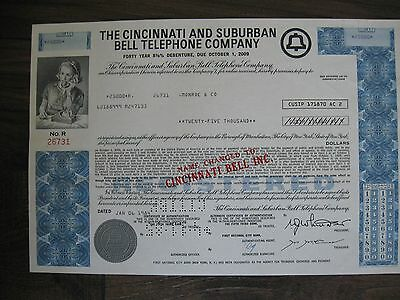 The Cincinnati & Suburban Bell Telephone Company 8 3/8% Bond 1984