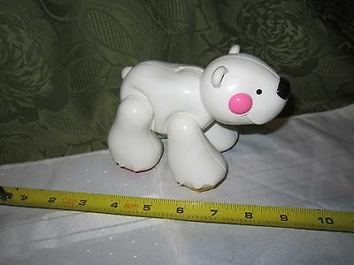 Fisher Price Amazing Animals Polar bear Play Figure clicking fun baby toy Part