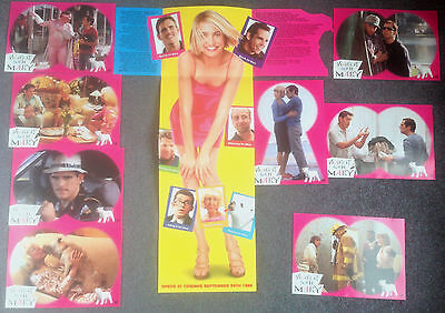 SET OF 8 ORIGINAL LOBBY CARDS THERES SOMETHING ABOUT MARY Cameron Diaz