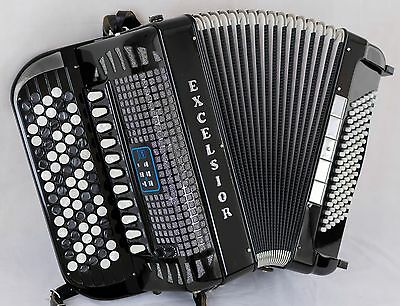 Excelsior 706 MIDI LT - 5 Row Chromatic C-System - Double Cassotto Accordion