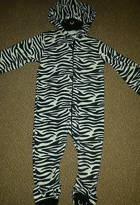 Zebra fleece all in one, 12-18 months, great condition