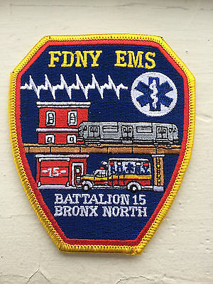 "FDNY EMS Battalion 15 ""Bronx North"" Patch."