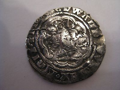 Silver Hammered Halfgroat Edward III