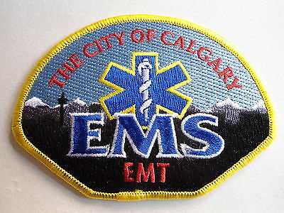 Calgary City Ems / Emt Patch, Rescue, Alberta, Canada, Ambulance Crest