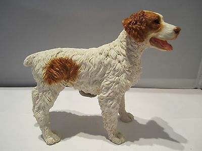 Brittany Spaniel dog figure Castagna orange and white  hand made in Italy new