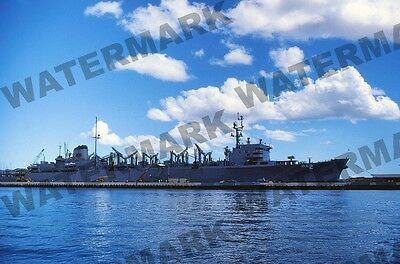 "MILITARY SHIP 35mm/2"" x 2"" Slide USS CAMDEN 1979 AOE-2 at Pearl Harbor"