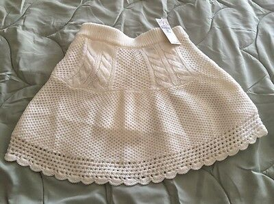 The Children's Place Toddler Holiday  Ivory Sweater Skirt Size 3t NWT