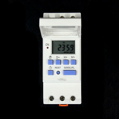 New Pro LCD Digital Programmable Microcomputer Timer Control Switch White