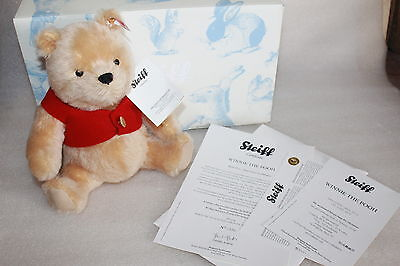Steiff Musical Winnie The Pooh Limited Edition Bear  Boxed With Certificate