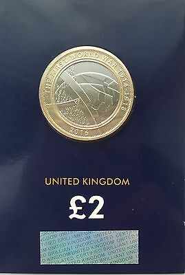2016 Uk WW1 Army Certified Bu £2 Coin Uncirculated Mint Condition